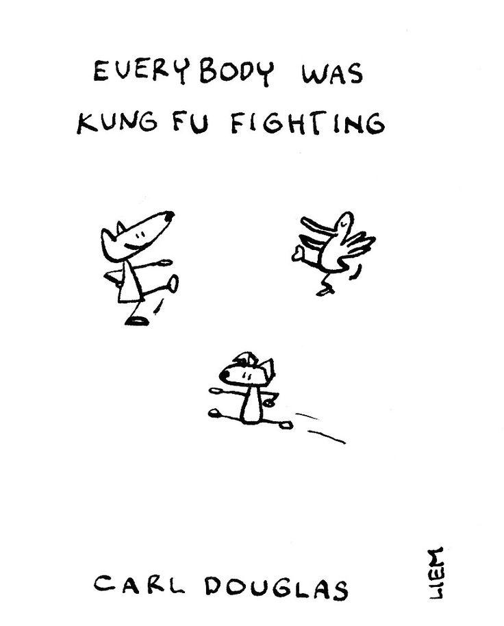 Carl Douglas. Everybody Was Kung Fu Fighting. 365 illustrated lyrics project, Brigitte Liem.