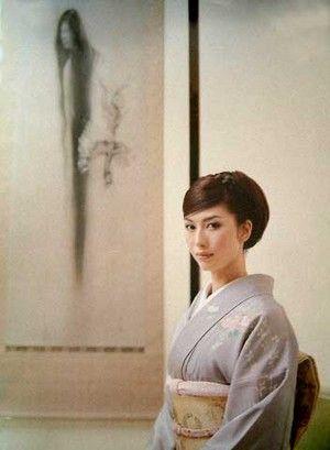 松井 冬子 Fuyuko Matui as a Japanese Painter