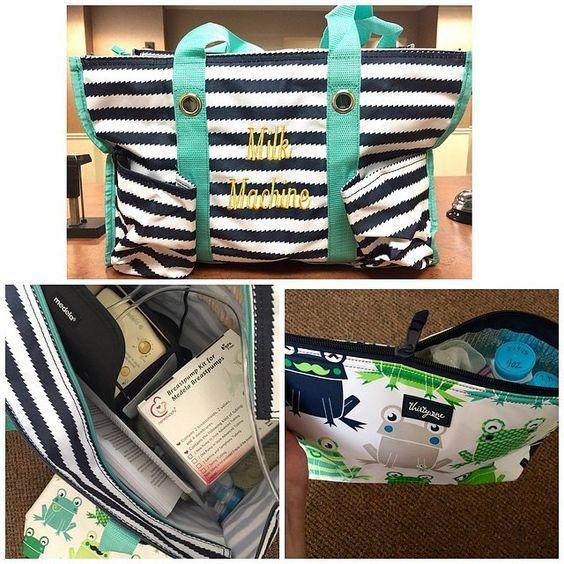 Thirty-One Baby Breastfeeding Pumping Bag. Zip Top Organizing Tote