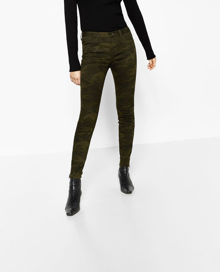 Image 2 of MID-RISE BIKER TROUSERS from Zara