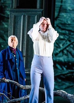 'Sensational': Michael Fabiano, right, as Lensky with Dmitri Hvorostovsky in Eugene Onegin.