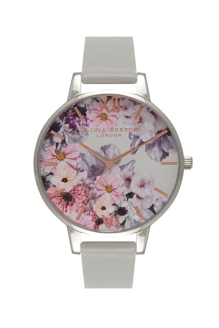 **Enchanted Garden Grey Watch by Olivia Burton   Topshop