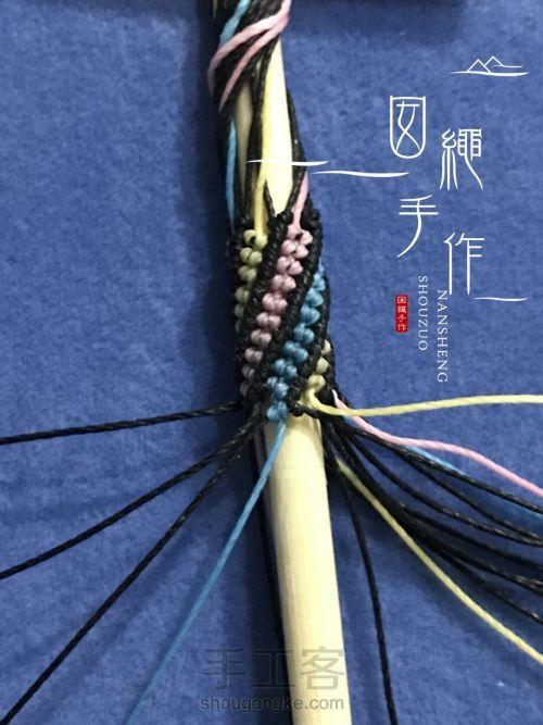 彩色立体手绳 第50步
