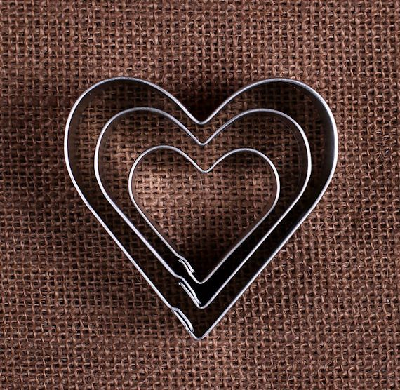 Heart Cookie Cutters Set