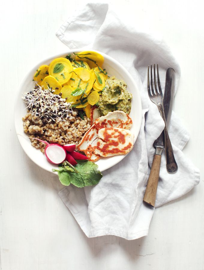 Early Summer Abundance Bowl: my favourite kind of meal, things you can smash together in a bowl