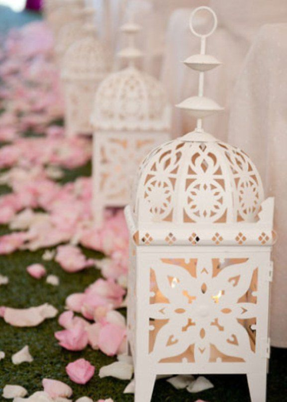 Moroccan wedding theme aisle ceremony decor weddings romantique