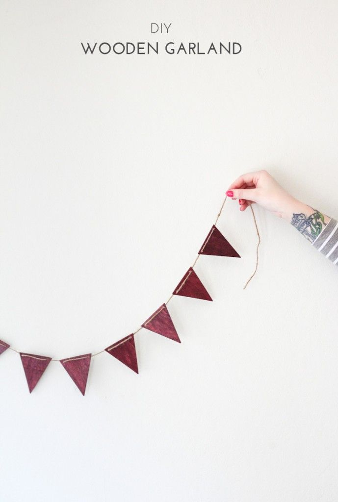 DIY Wooden Garland - The Crafted Life