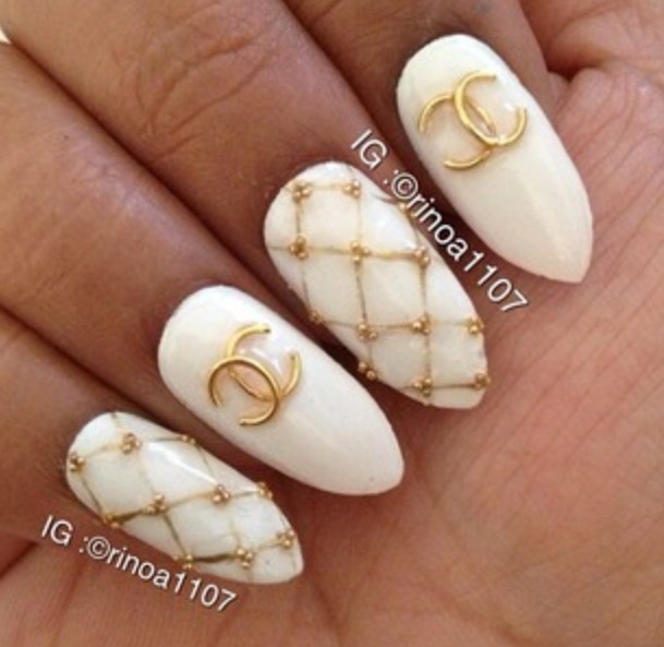 Nail design with chanel chanel nail design mariya k s photo view images best chanel nails design prinsesfo Image collections