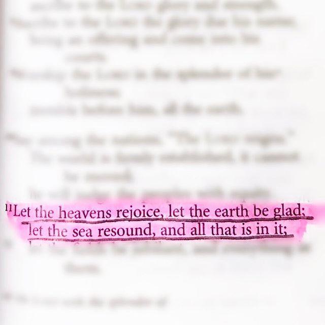 Psalm 96:11 NIV  #sundayABD