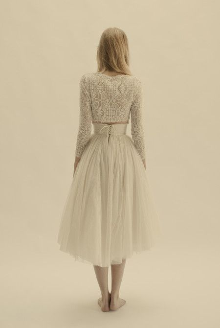 Vesta jacket, Peonia skirt