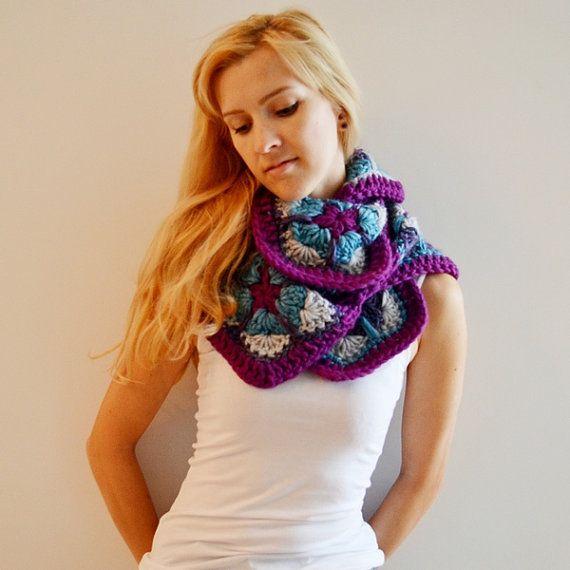 Crochet infinity scarf pattern, Crochet scarf pattern, Infinity scarf pattern, pdf, scarf for woman, Crochet cowl scarf, crochet clothes