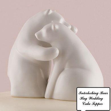 Interlocking Bear Hug Bride and Groom Themed Wedding CakeToppers-Matte Glazed Porcelain Natural White Couple Figurines Decoration by splendorlocity on Etsy https://www.etsy.com/listing/194330959/interlocking-bear-hug-bride-and-groom