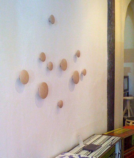 dot coat hooks, art and function