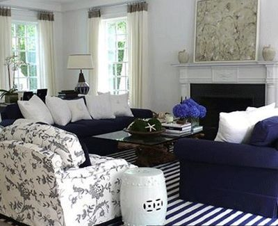 images about Luscious Livingrooms Navy Blue Living Room Decorating Ideas