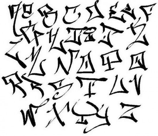 Tag ABC Graffiti Alphabet A-Z