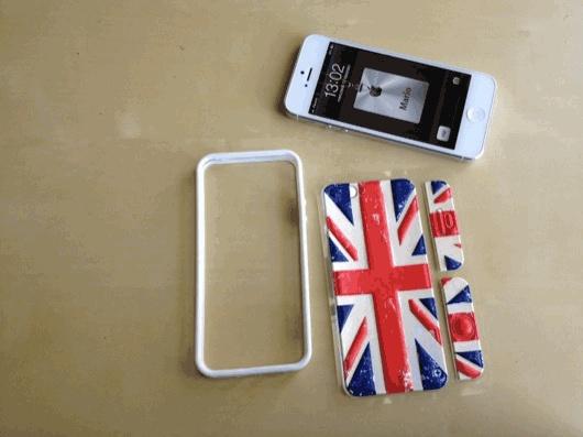 id America - Bumper + Cushi Plus Flag per iPhone 5 - Inghilterra - CoverStyle
