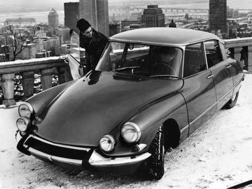 Montreal in the 60s- cool city, cool car, cool chick!