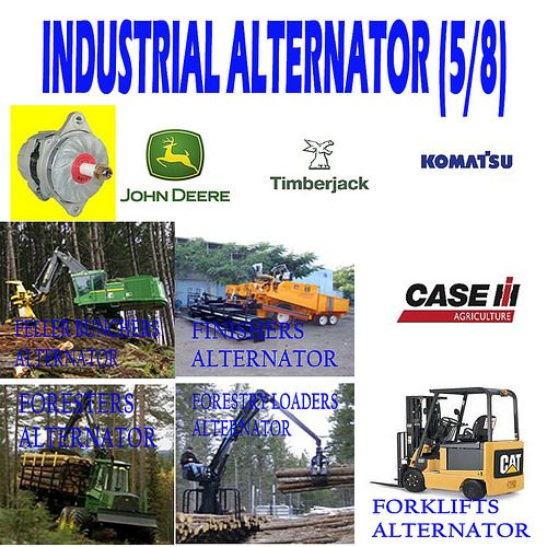 INDUSTRIAL ALTERNATOR (5/8) FELLER BUNCHERS, FINISHERS, FORESTERS, FORESTRY LOADERS, FORKLIFTS ALTERNATOR