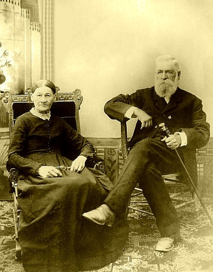 Nicholas and Virginia Earp, parents of James, Virgil, Wyatt, Morgan and Warren Earp.  Newton Earp, the oldest brother, was the son of Nicholas's first wife.