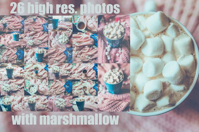 Marshmallow- set of 26 photos by Krisp_Krisp on @creativemarket