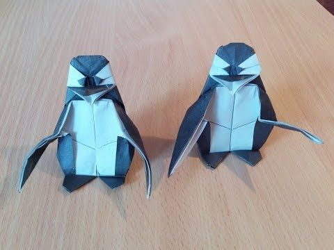 # 4 Origami - pinguino de papel ( origami penguin ) - YouTube