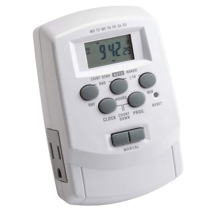 Kichler 15556 Plug In Digital Timer For Plus Or Professional Series  Transformers White Outdoor Lighting