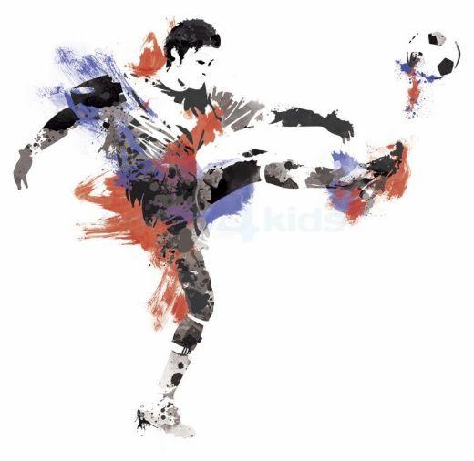 muursticker jongenskamer voetbal