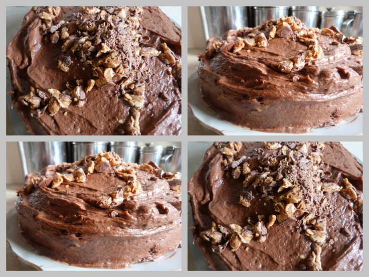 Chocolate cake with snikers