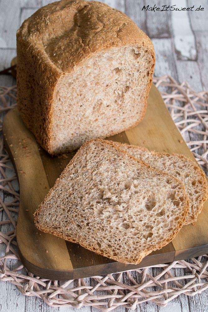 Joghurt Weizenkleie Brot BBA Brotbackautomat Rezept Kleie schnelles Brot einfach