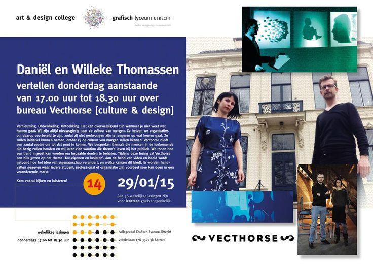 Lezing donderdag 29 januari: Daniël en Willeke Thomassen van Vecthorse. 17.00-18.30 uur GLU Vondellaan 178, Utrecht.