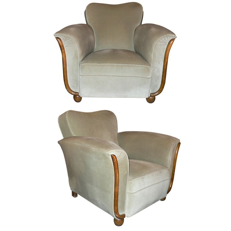 Best Art Deco Upholstery Chairs Images On Pinterest Art - Club chairs furniture