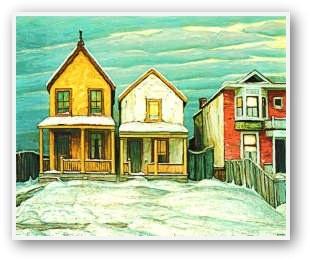 Lawren Harris  Houses In Winter I