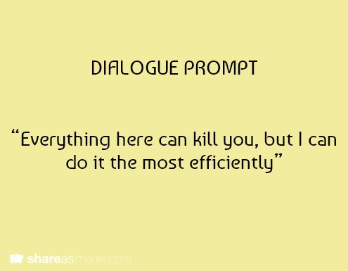 Creative writing dialogue prompts