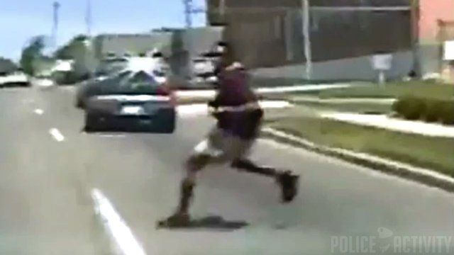 Damn: Suspect Gets Hit By Police Car After A Chase In Ohio! -  Click link to view & comment:  http://www.afrotainmenttv.com/damn-suspect-gets-hit-by-police-car-after-a-chase-in-ohio/