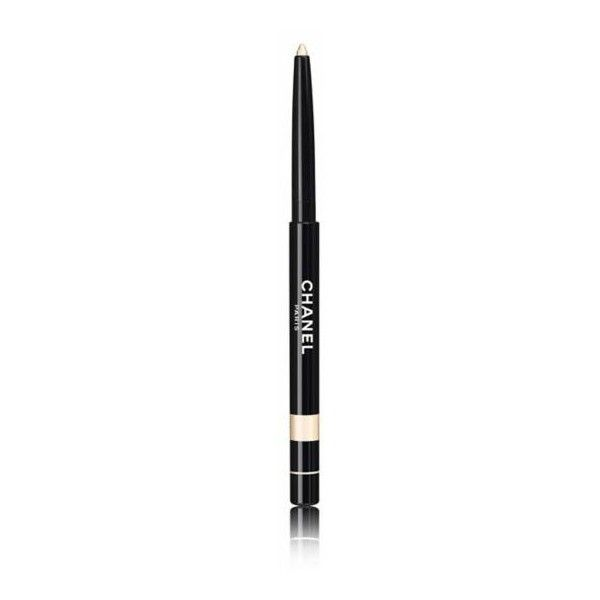 CHANEL STYLO YEUX Waterproof Lost Lasting Eyeliner in 987 OR BLANC... ($25) ❤ liked on Polyvore featuring beauty products, makeup, eye makeup, eyeliner, chanel, chanel eye makeup, chanel eyeliner and chanel eye liner
