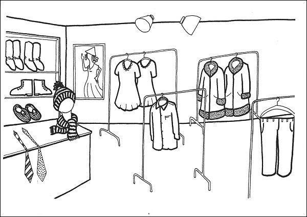 Situační obrázky - Obchod oblečení