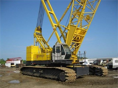 Get Best Deal on Used 2005 #Kobelco #Crane with Free Price Quotes by PVE Cranes & Services LTD for $ 3250648 in Jacksonville, FL, USA at HiFiMachinery.Com. This Used 2005 Kobelco crane comes equipped with 61mtr (200') main boom, runner, hook block and ball.160' Luffing jib available. You can see more details like contact and listing details at: http://goo.gl/jaisvD