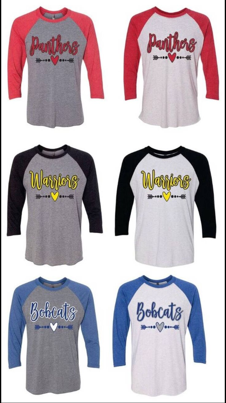 A personal favorite from my Etsy shop https://www.etsy.com/listing/544886006/high-school-mascot-raglan-panthers