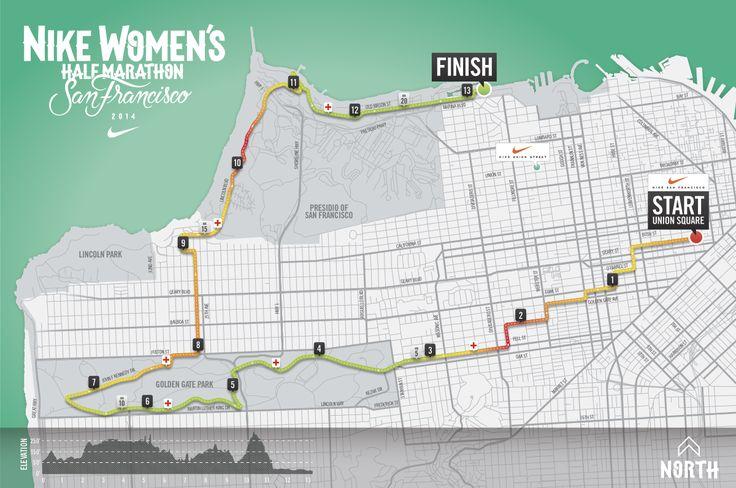 The 2014 San Francisco Nike Women's Half Marathon Course Is Here  #werunsf