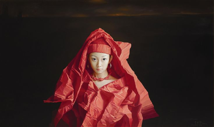 Classical realism: Zeng Chuanxing's paper brides portraits of 'minority' women. Zeng was born in Sichuan province, China. Images from various sources | Decanted