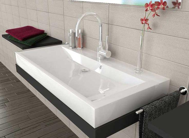 Die besten 25 aufsatzwaschbecken eckig ideen auf for Eckiges waschbecken