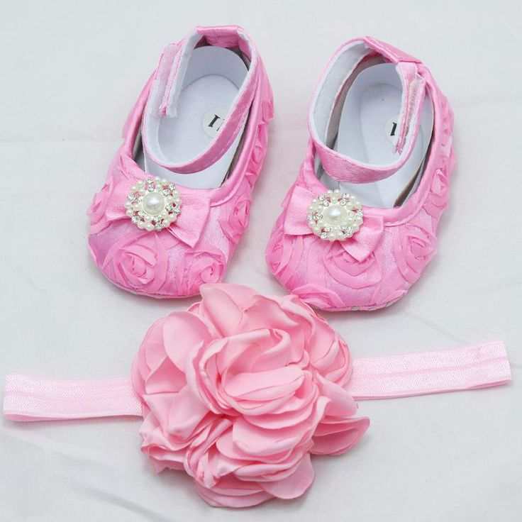 Baby Satin Rosette Flower Headband Girl Lace Shoes With Pearl Set Newborn Christening Baptism Crib Shoes Princess Accessories From Fangfanghome, $6.9 | Dhgate.Com
