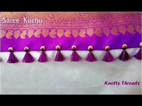 How to make Designer Saree Kuchu Using Big Holed Round Beads | Tutorial | DIY |Knotty Threadz !! - YouTube