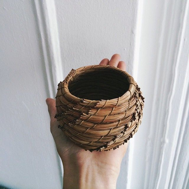 Small basket from the needles of a Himalayan Pine.