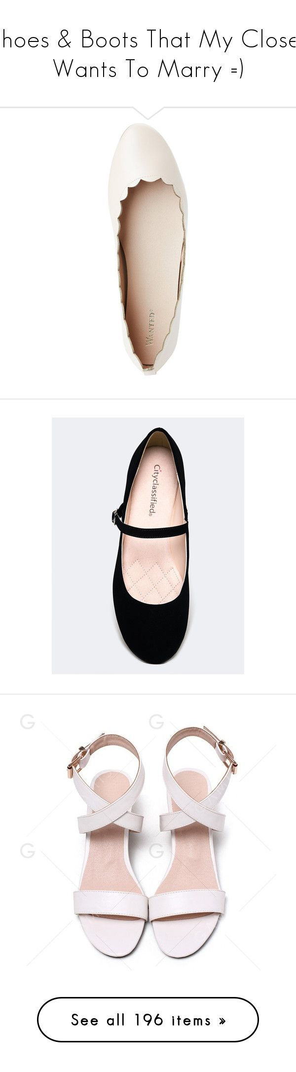 """""""Shoes & Boots That My Closet Wants To Marry =)"""" by allweknowisfalling ❤ liked on Polyvore featuring shoes, flats, nude flats, ballet shoes flats, ballet pumps, nude ballet shoes, nude ballet flats, city classified flats, ballet flats and mary jane shoes flats"""