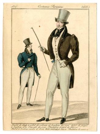 1827 Gentlemen Jackets with Overlarge Sleeve Tops Men's Wear Costume Institute libmma.contentdm.oclc.org