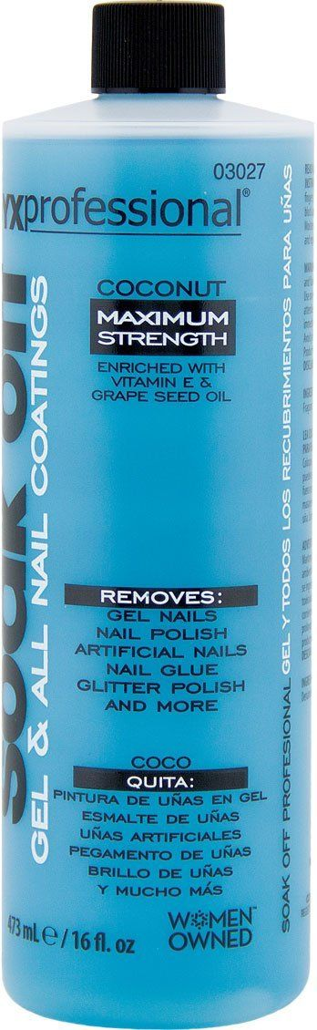 Onyx Professional Soak Off Shellac and Gel Nail Polish Remover Coconut Scented Removes Artificial Nails, Nail Glue, Glitter Polish and More, 16 oz -- You can find more details by visiting the image link. (Note:Amazon affiliate link)