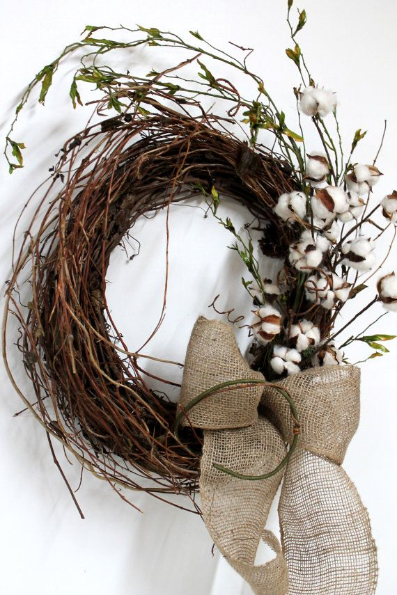 Cutest cotton wreath! DIY!