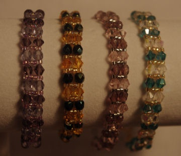 Beautiful swarovski crystal band bracelets $50.00 each