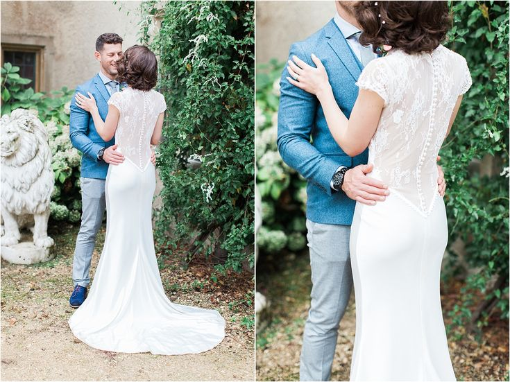 Wedding dress, fitted wedding dress, lace back, vintage gown, wedding gown
